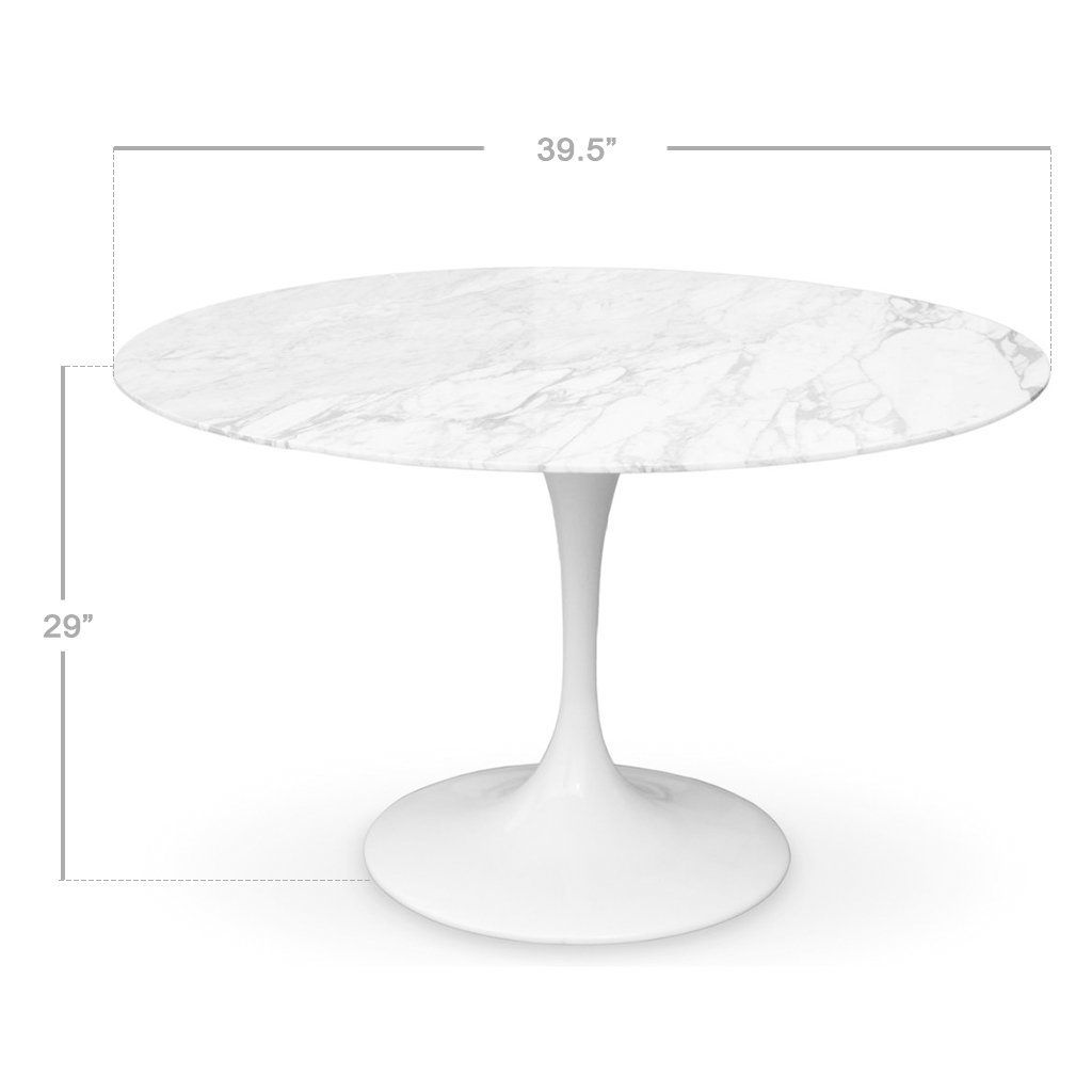 Eero Saarinen Tulip Table Marble Top 40 Modholic Com Eero