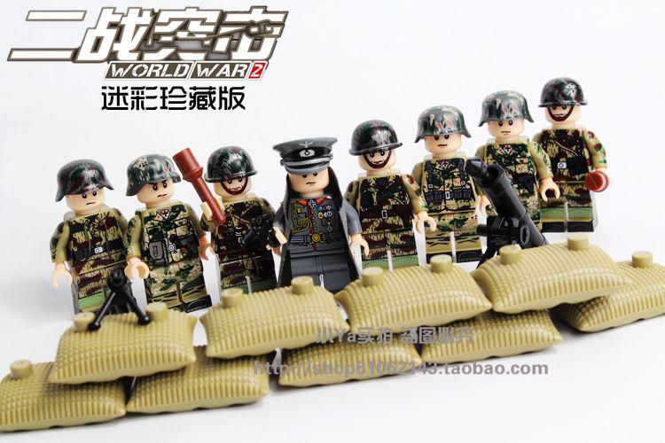 Dlp 2 guerra mundial alemán asalto fuerza especial militar ejército solider ladrillos compatible con lego bloques de construcción de juguete abs higos