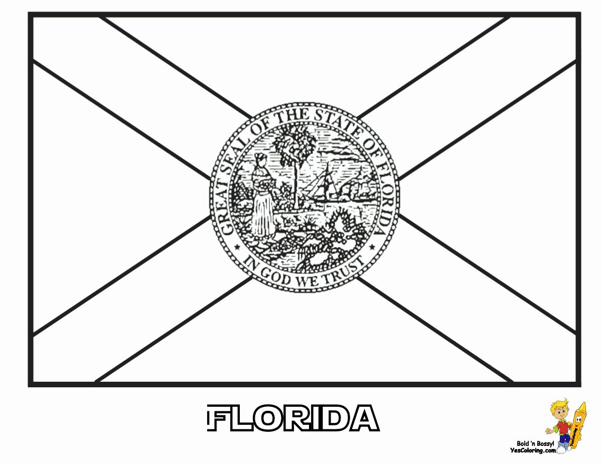 Alabama State Flag Coloring Page Inspirational Florida Coloring