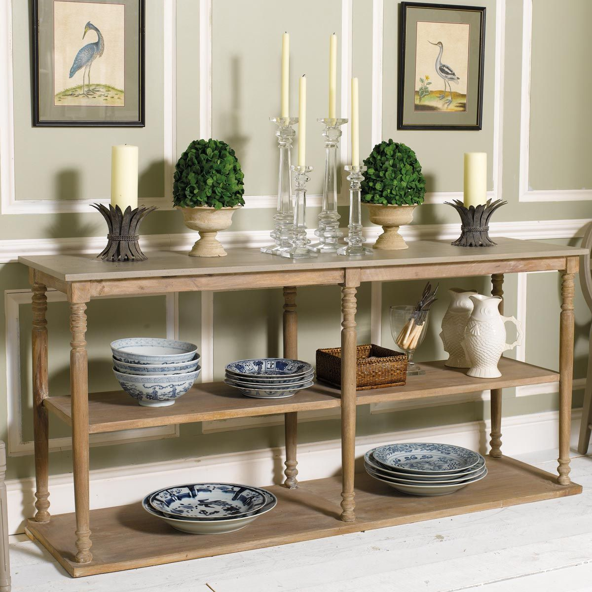 Parkstead Wood Console Table With Shelves Wood Console Table Wood Console Console Table