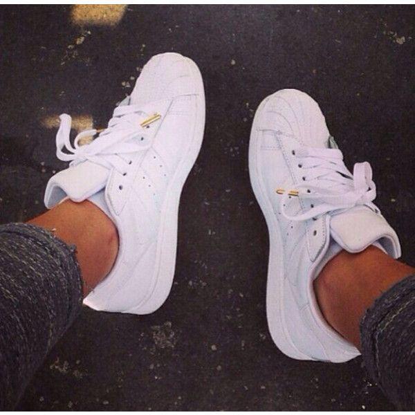 Shoes  shelltop adidas shell toe. adidas. classics. white. white... ❤ liked  on Polyvore fa5676ed83c0