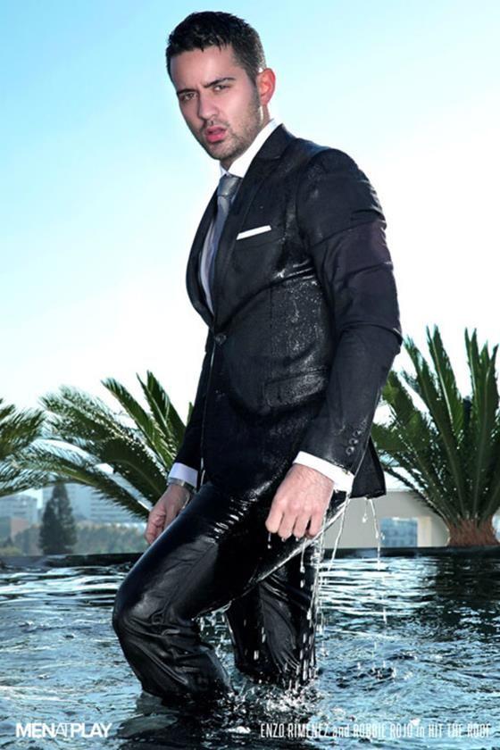 gay suit wet