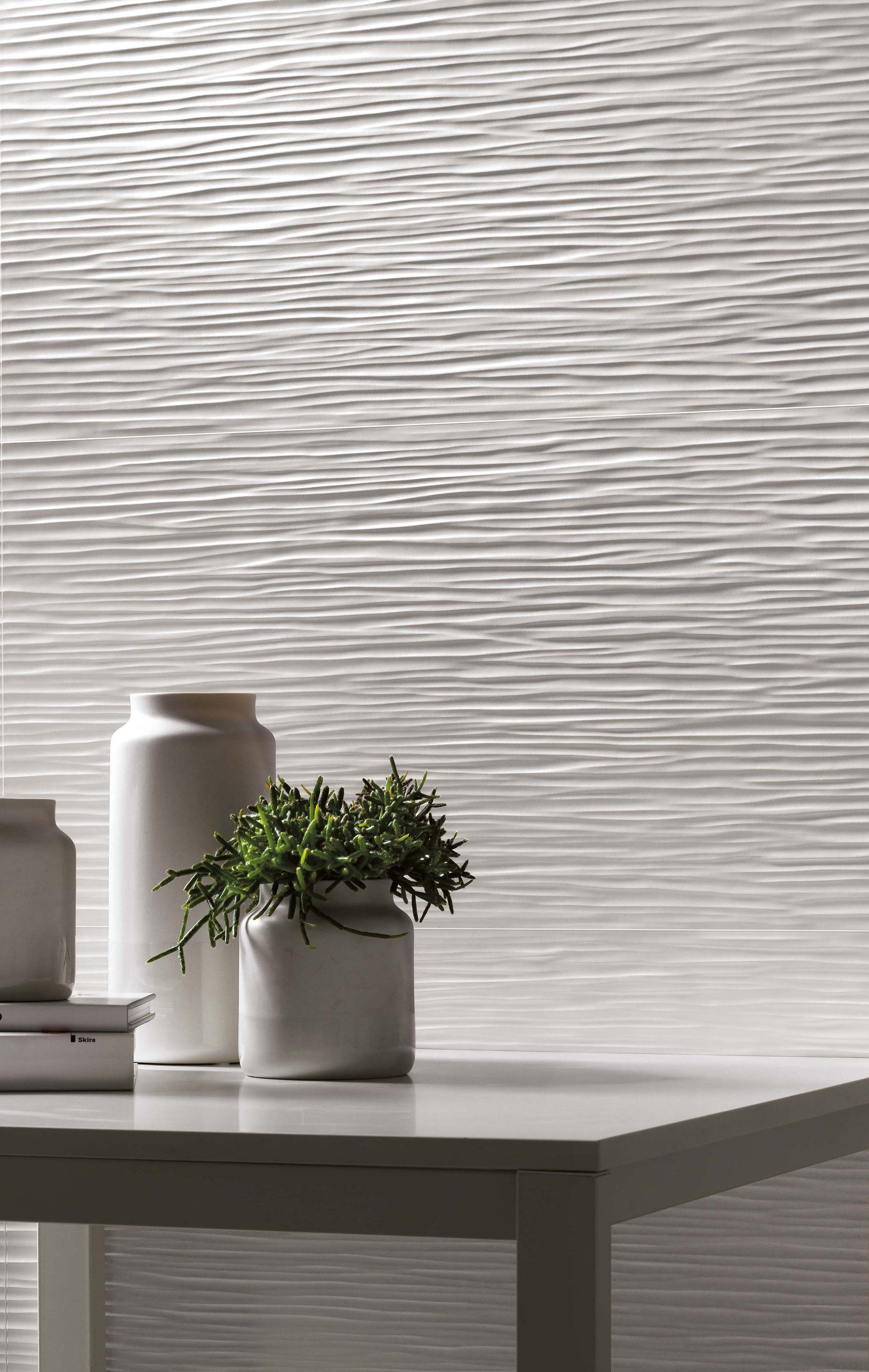 3d Wave Wall Design By Atlasconcorde Three Dimensional Ceramic Wall Tiles