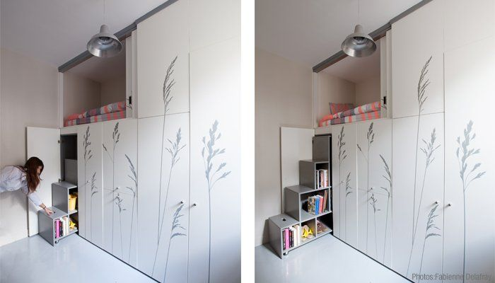 Attractive See Inside A Tiny 86 Square Foot Paris Apartment With A Bed In The Cupboard