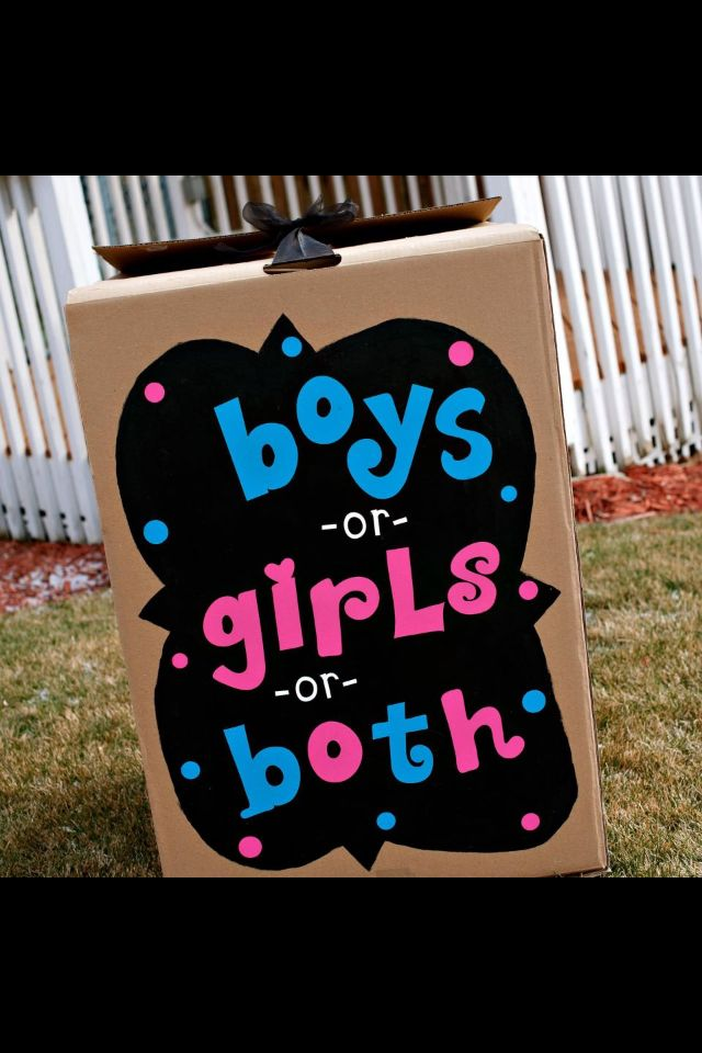 This Was My Girlfriend S Gender Reveal Box For Her Twins