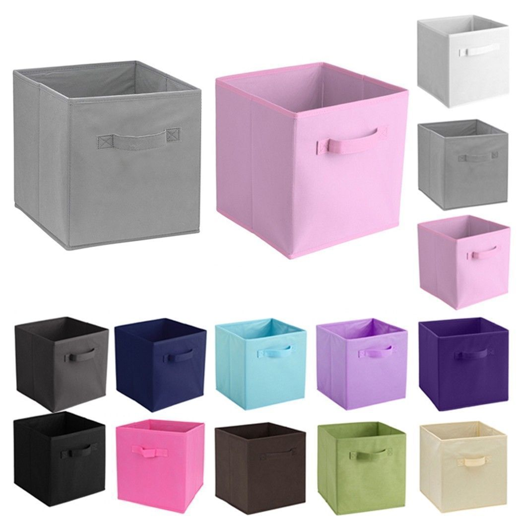 Foldable Storage Cube Basket Bins Organizer Box Closet Container Fabric Drawers Storage Containers Fabric Storage Boxes Fabric Storage Cubes Fabric Storage