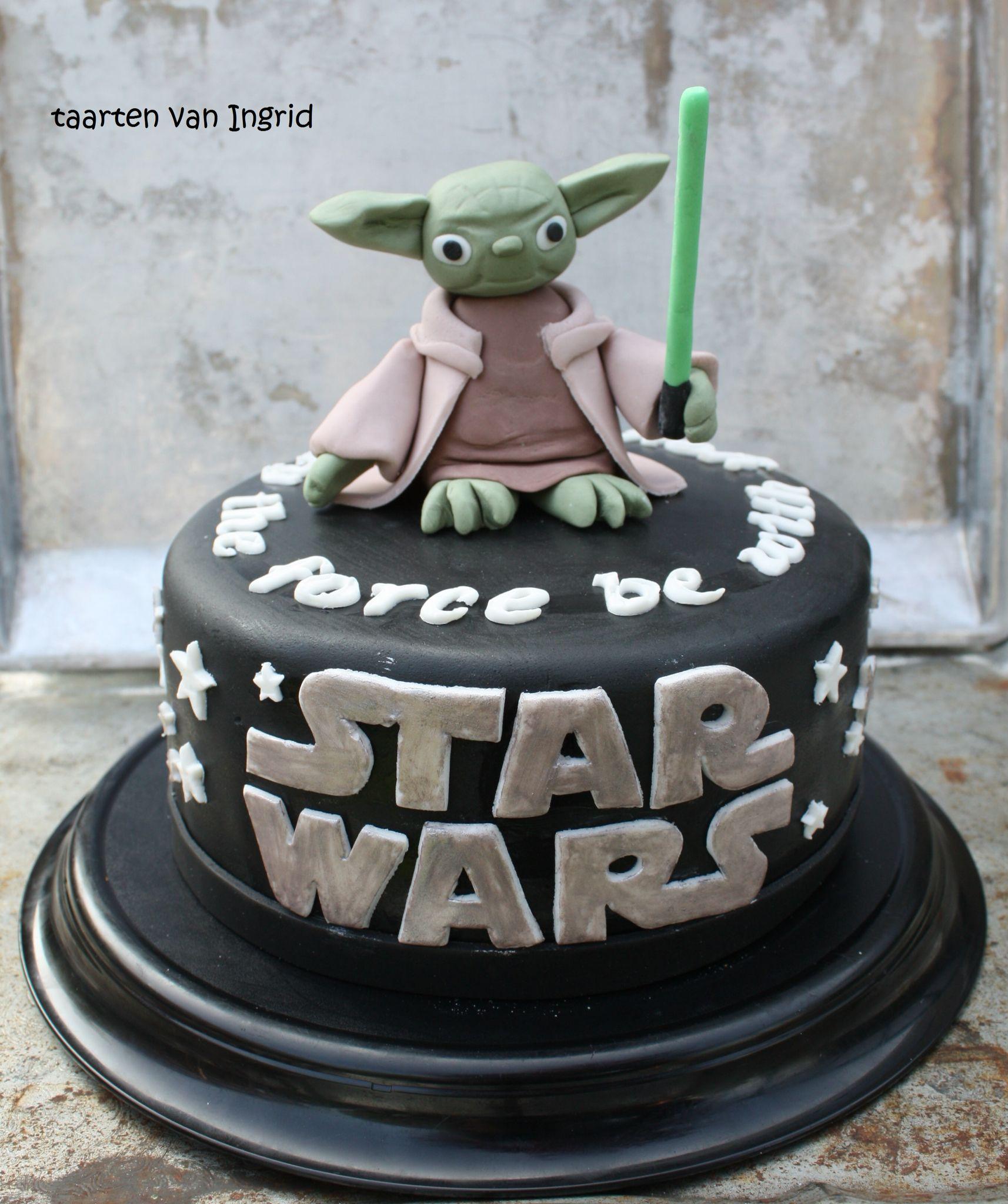 yoda taart Star Wars taart met Yoda cake | Cake desing | Pinterest | Yoda  yoda taart