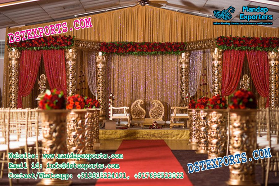 Indian Wedding Fiber Mandap Set Mandap Indian Wedding Indian