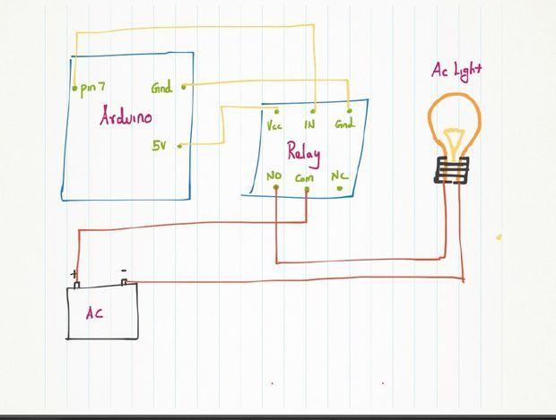 relay - picture of circuit diagram