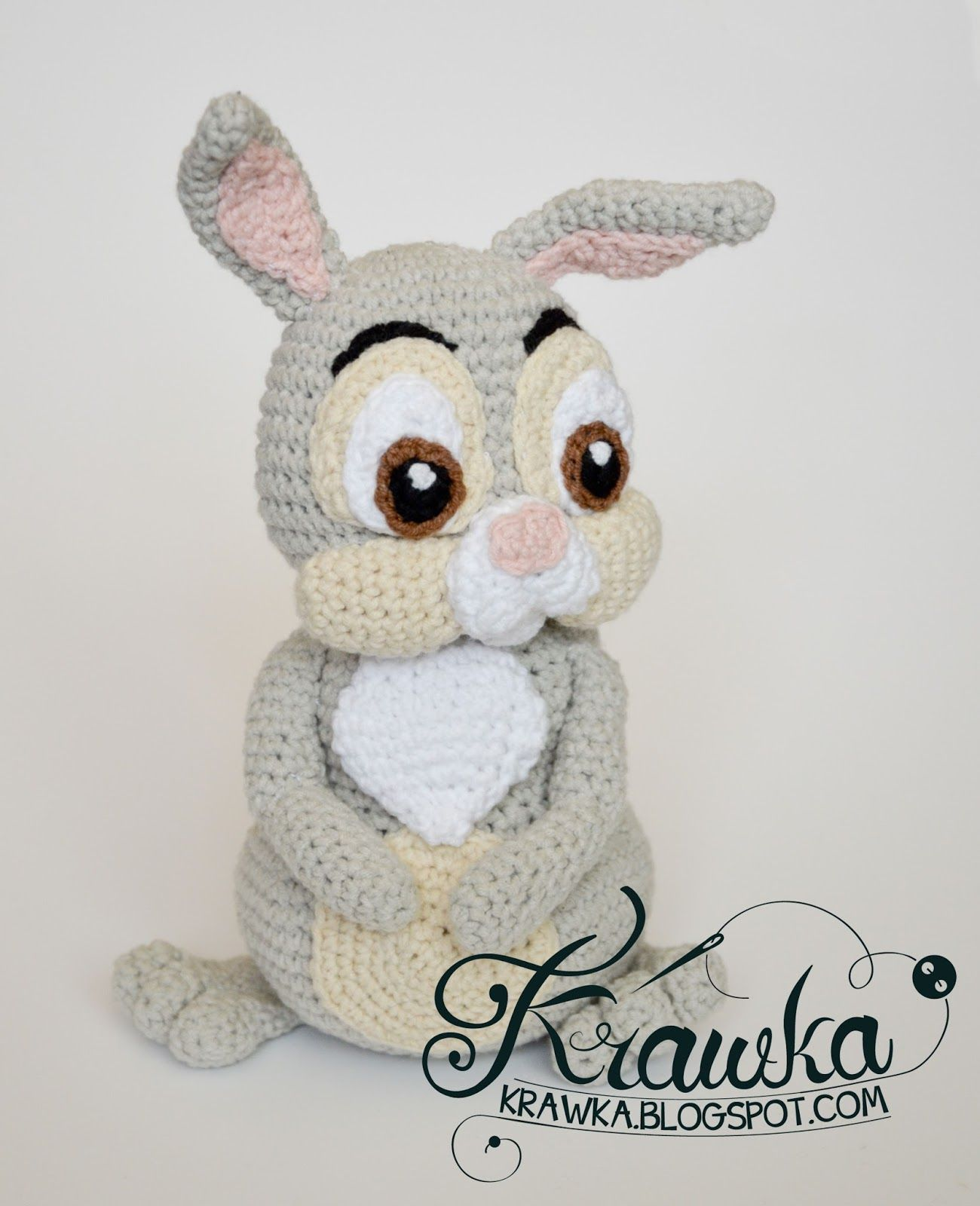 Krawka: Easter Thumper Rabbit from Bambi Disney movie crochet ...