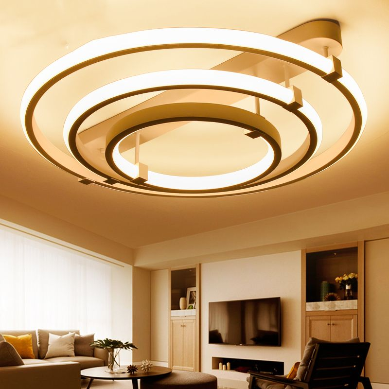 Free Shipping Buy Best Lican New Circle Rings Designer Modern Led Ceiling Lights Lamp Fo Ceiling Design Bedroom Ceiling Design Living Room Ceiling Lights