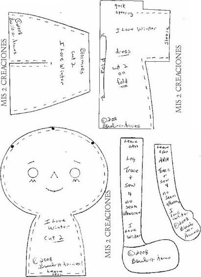Pin on Rag Doll Patterns & Tutorial