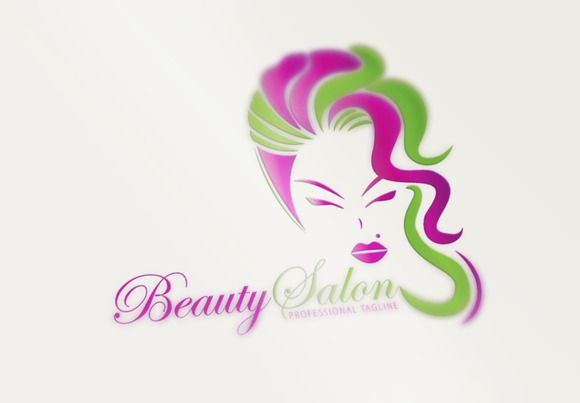 Beauty Salon Logo by CreativeDezing on @creativemarket