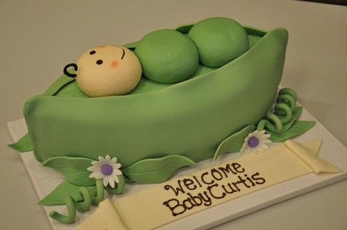 Pea In A Pod Baby Shower Cake By Designer Cakes By April Babyshower