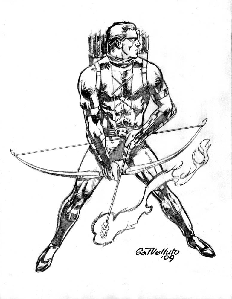 Red Arrow By Sal Velluto By Nywisdom Red Arrow Drawing Superheroes Green Arrow