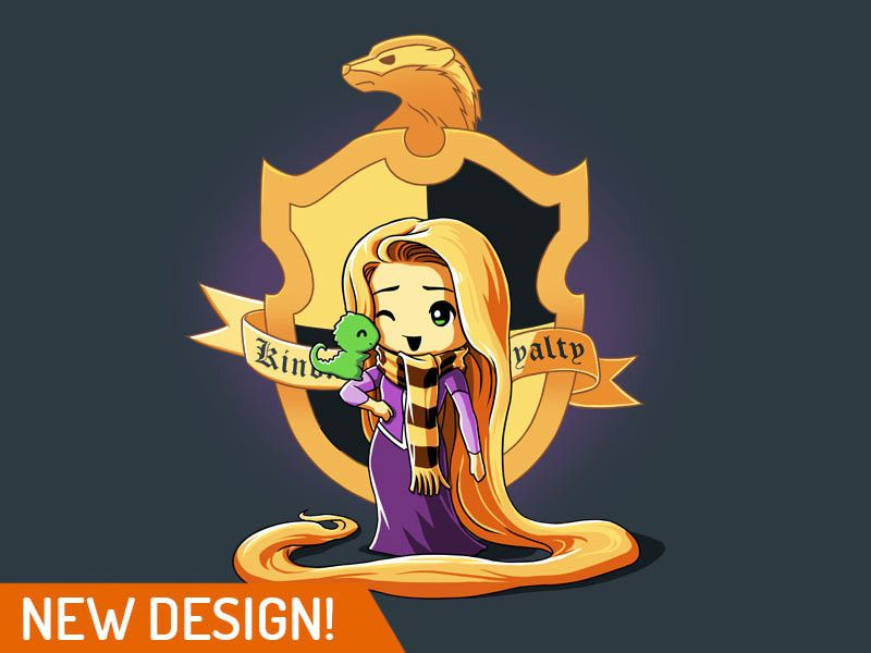 This is the cutest! Rapunzel as a Hufflepuff!