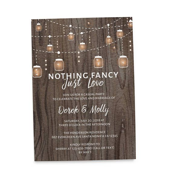 Personalized elopement announcement card (you can change wordings - invitation wording for elopement party