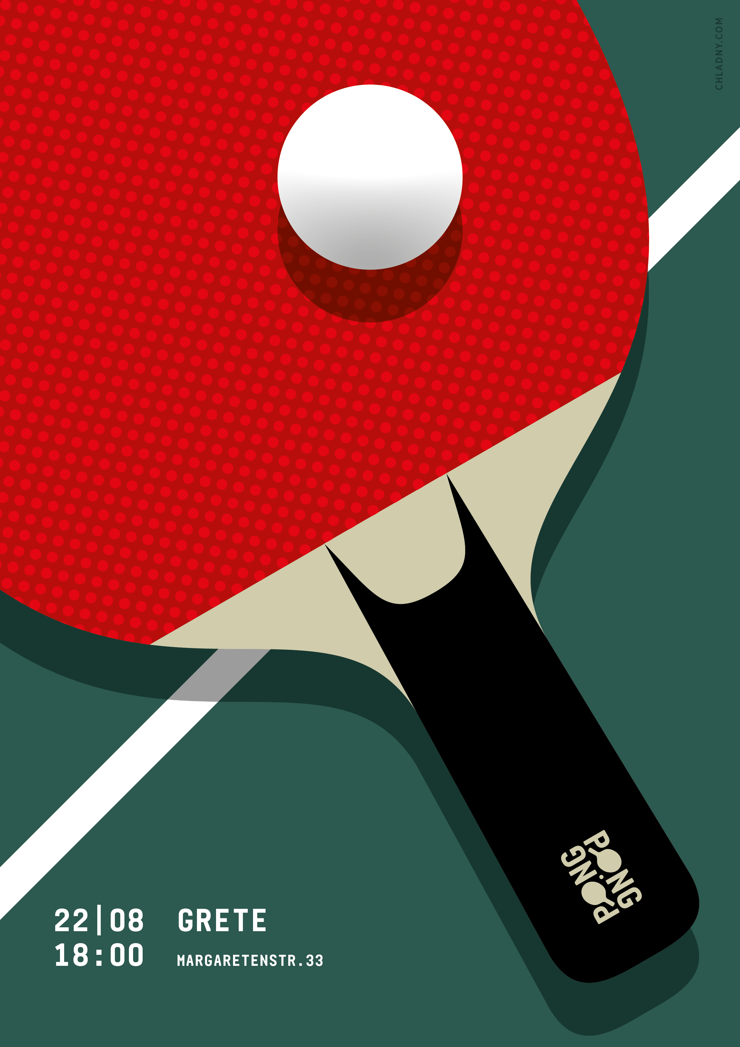 Ping Pong Poster Graphic Design Illustration C 2016 Christian Chladny Tennis Posters Graphic Design Posters Poster Design