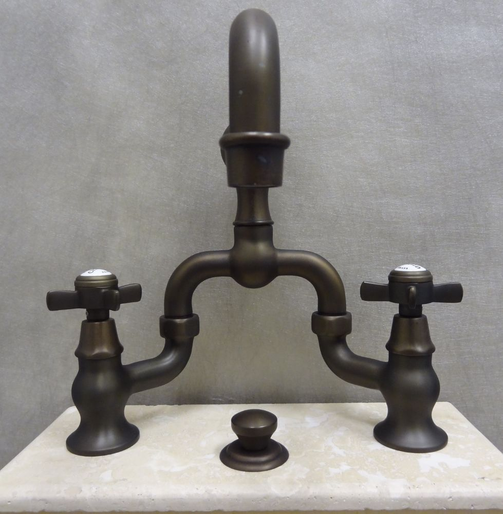 Newport Brass 1000B/07 English Bronze Fairfield Lavatory Bridge ...