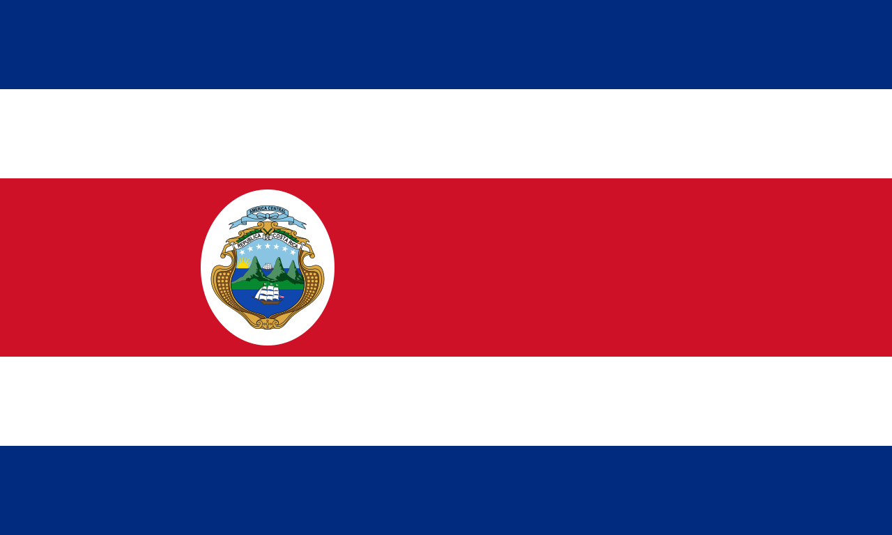 Costa Rica 1964 1998 Costa Rica Flag Costa Rican Flag Costa Rica