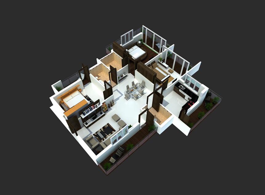 Casa con paredes oscuras planos pinterest casas for Casas modernas oscuras