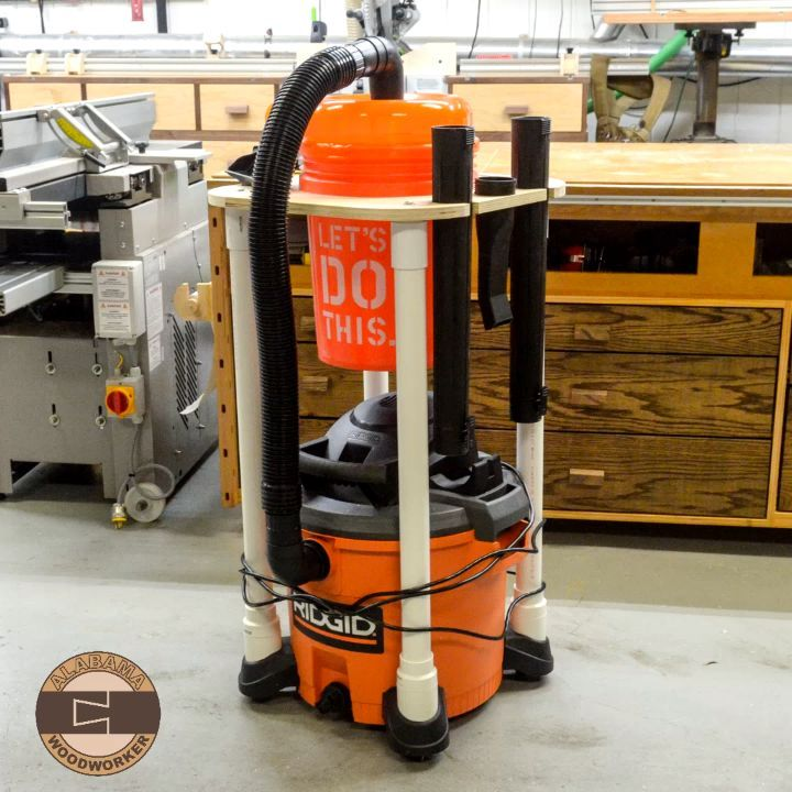 I Built An All In One Dust Extractor And Separator Cart From Johnbuildsit Original Design I Wood Shop Projects Woodworking Shop Projects Shop Dust Collection