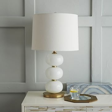 Mini Abacus Table Lamp Milk Finish West Elm Textiles