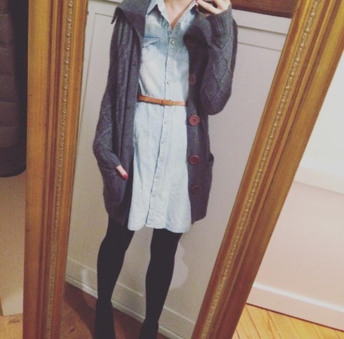 Graues kleid farbe strumpfhose