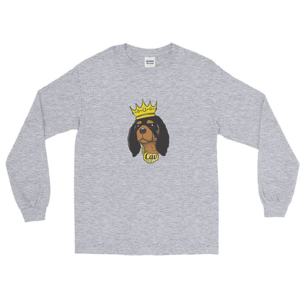 black & tan king | unisex long sleeve tee