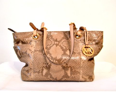 Michael Kors Snakeskin Leather Toe Bag   Gently Used   – Secret Stash c46fcff5f0