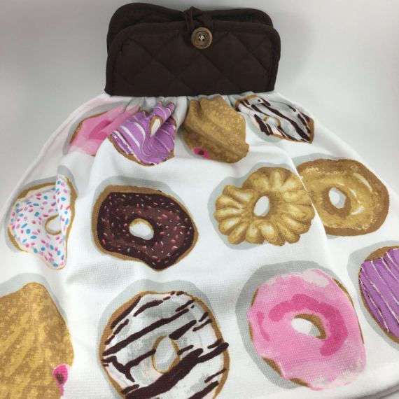 Kitchen Towel//Donut Towel//Tea by TumbleweedCraftsKS on Etsy