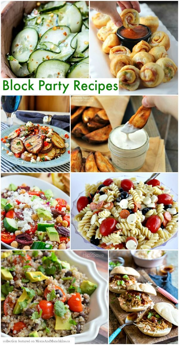 Block Party Recipes That Are Sure To Impress Moms Munchkins Block Party Food Summer Food Party Summer Block Party