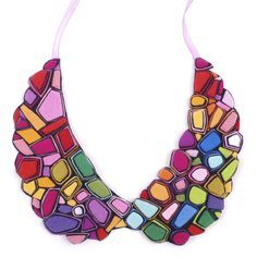 Cool & colorful collar necklace!