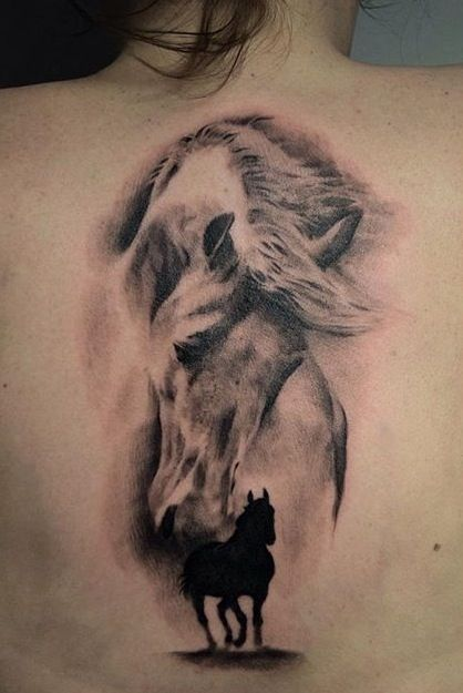 0bfd0fb0057f3 Terrific horse tattoos by @helyartattoos good one but with mateux's face