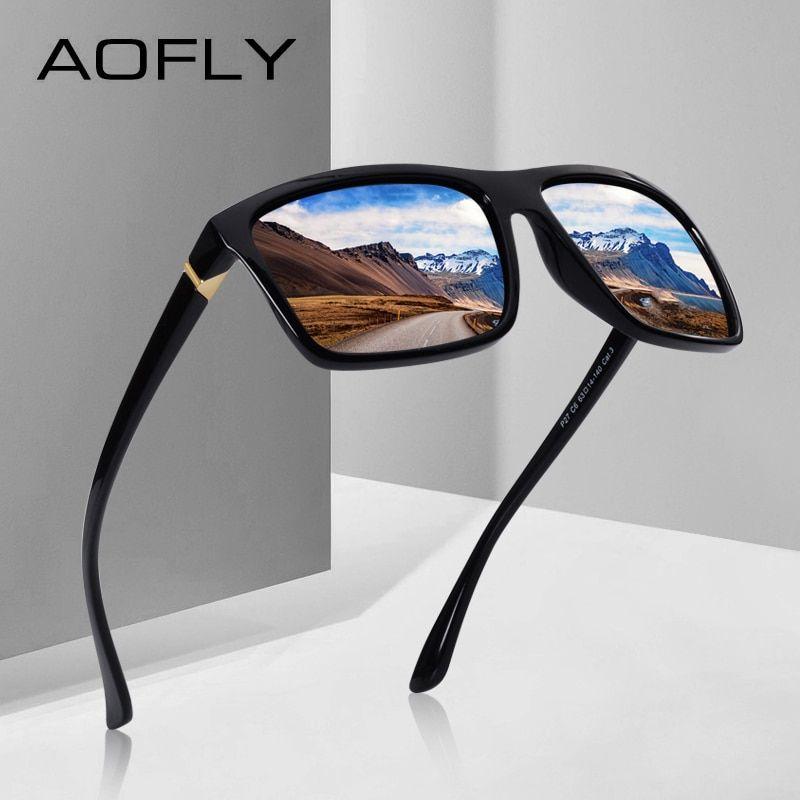 2869712088b AOFLY BRAND DESIGN Polarized Sunglasses Men Square Frame Sun Glasses For  Women Vintage Retro Goggles Eyewear Gafas UV400 AF8066 Review