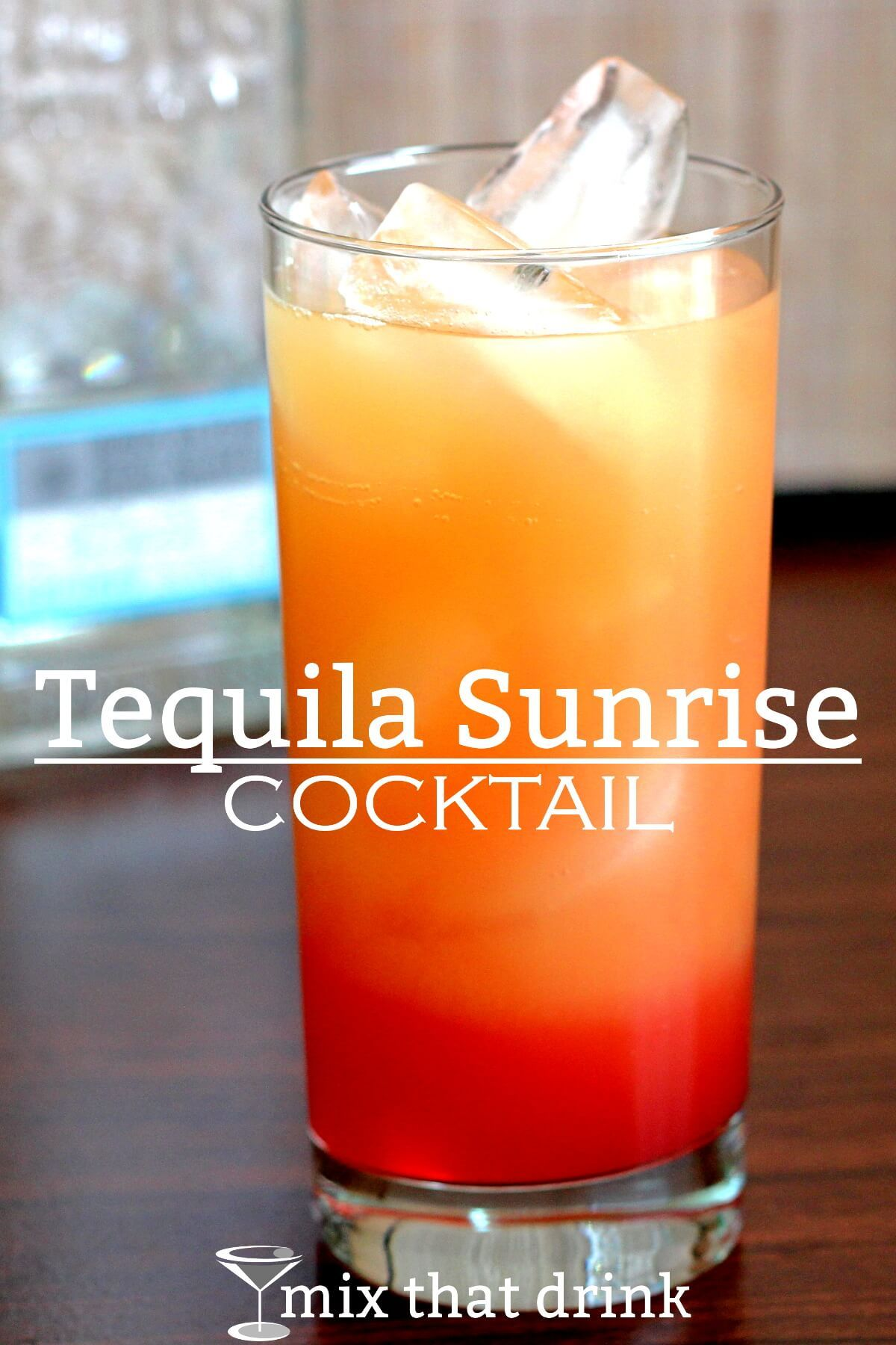 Tequila Sunrise cocktail #tequiladrinks