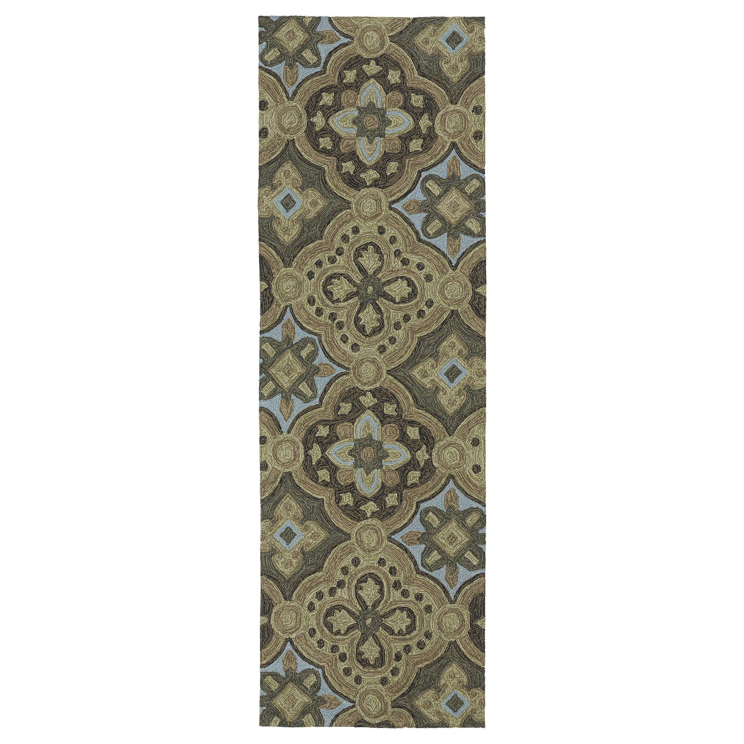 Bombay Home Seaside Chocolate Panel Indoor Outdoor Rug 2 6 x 8 0