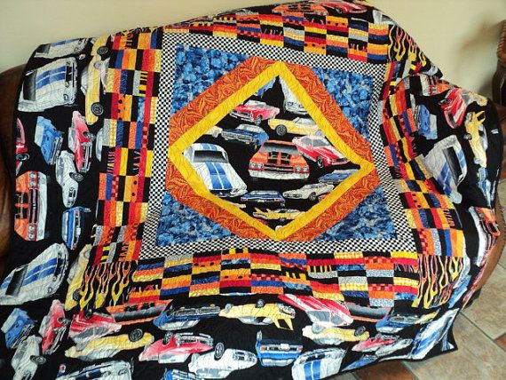 Lap Quilt Muscle Cars Hot Rods Travel By Sewkreativebykathryn