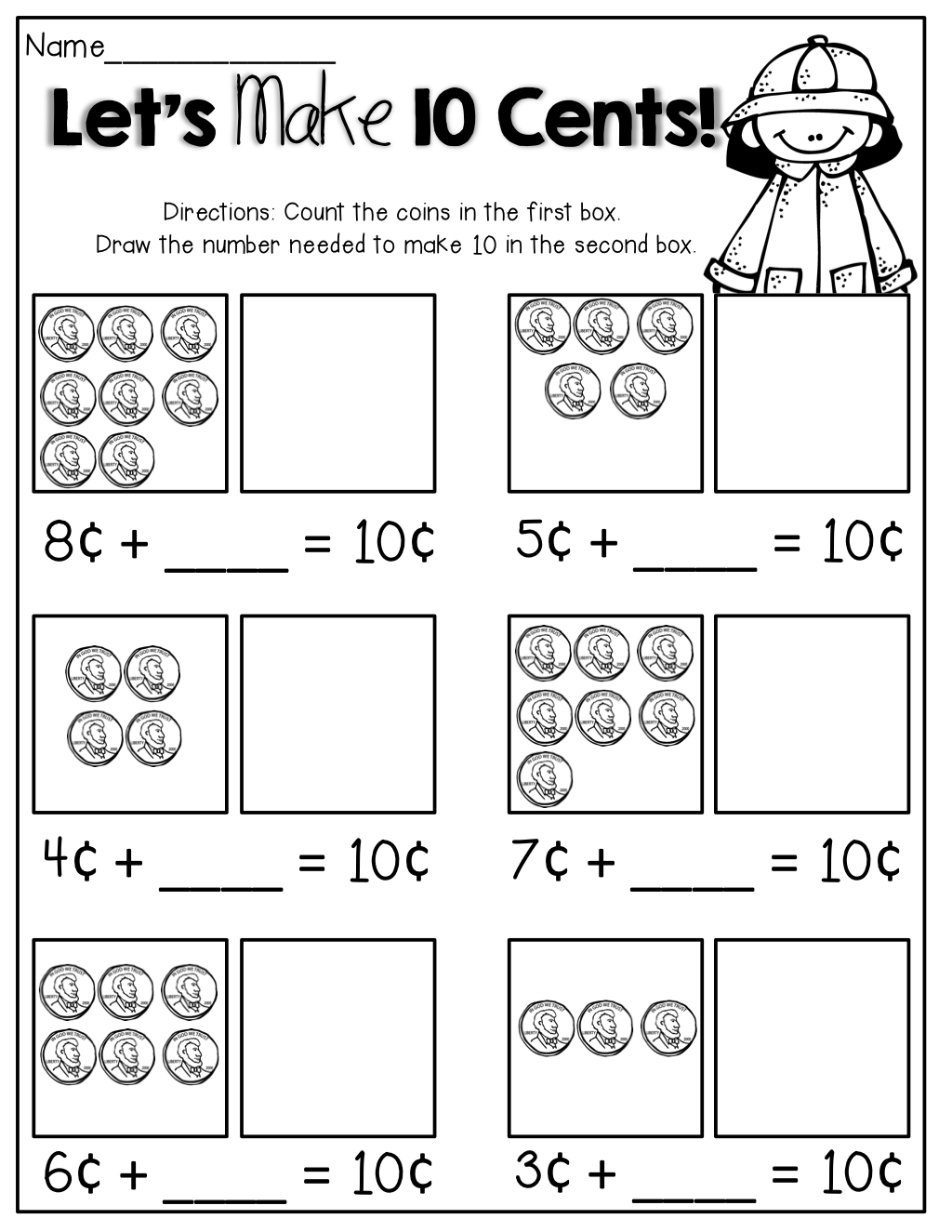 Let S Make 10 Cents Draw What Is Needed Personal Financial Literacy Spring Math Personal Financial Literacy Kindergarten [ 1325 x 1024 Pixel ]