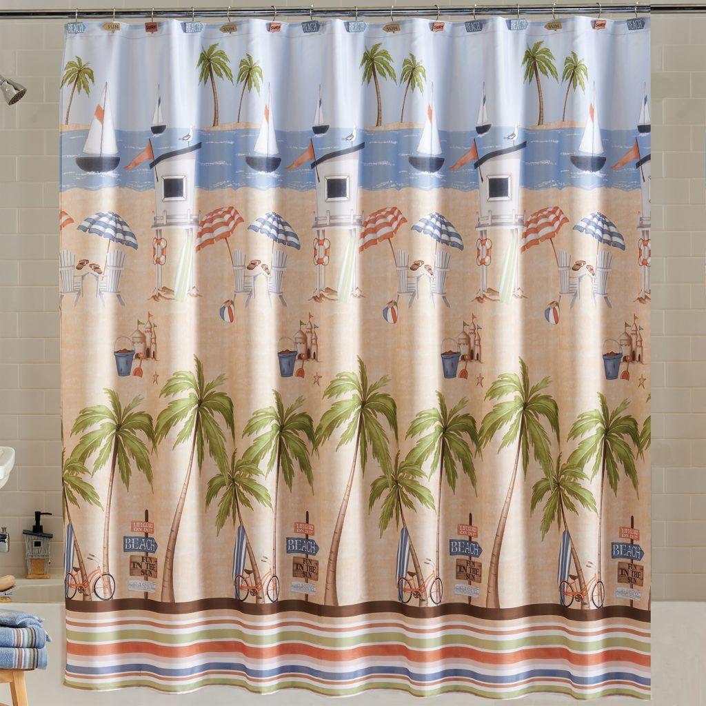 Tree Frog Fabric Shower Curtain