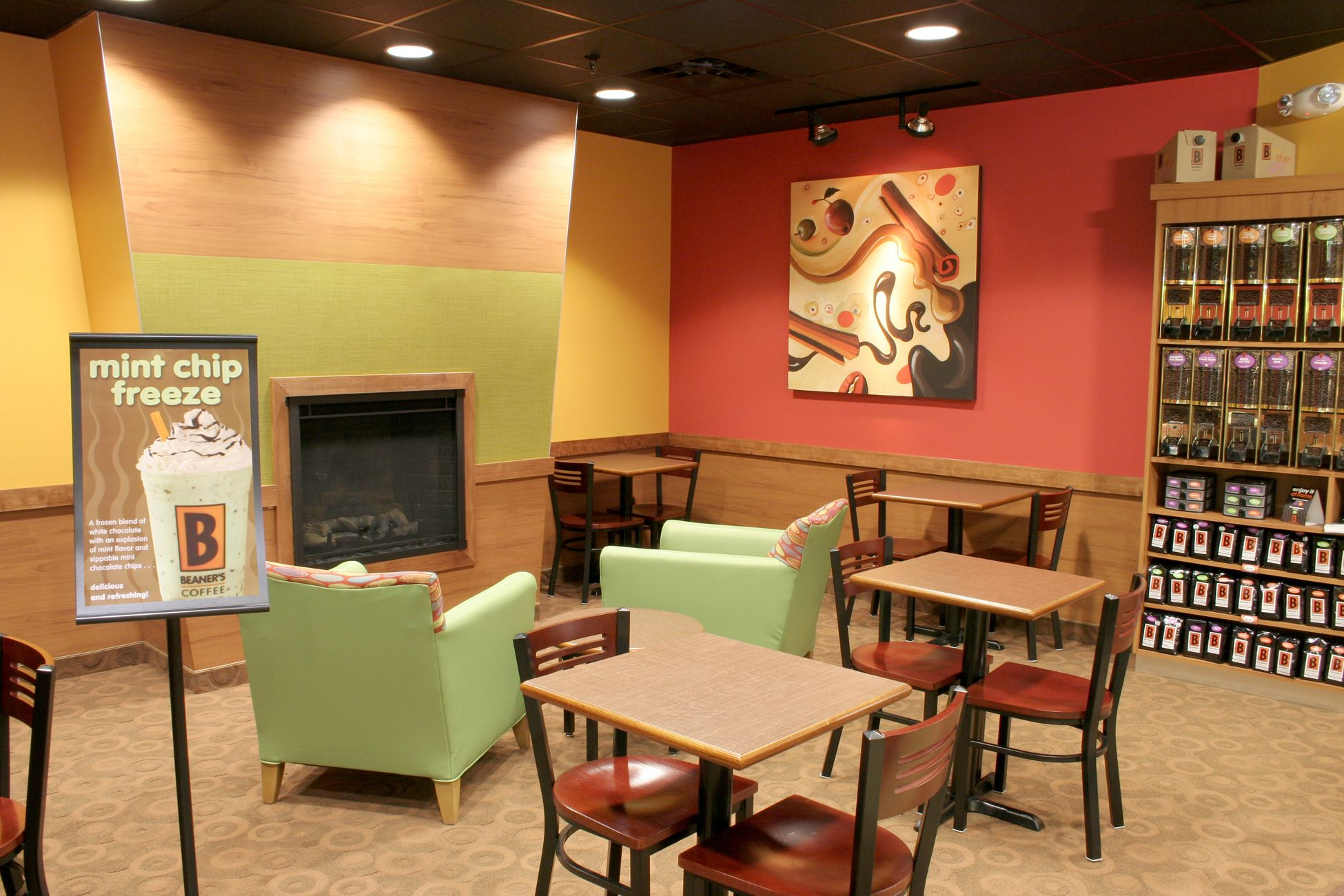 SKP Design Hospitality Biggby Coffee In Bronco Mall Western Michigan University Kalamazoo