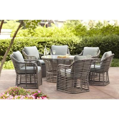 Hampton Bay Cane Crossing Patio Chat Chairs With Cushion Insert 2 Pack Slipcovers Sold Separately 153 105 Lc Pr Nf The Home Depot