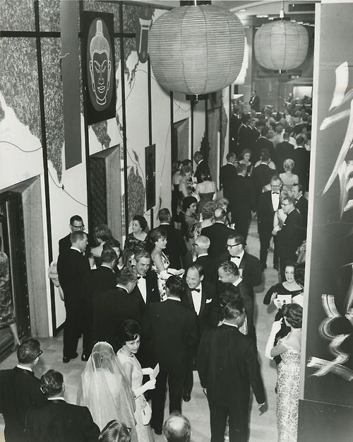 The East Meets West Fortnight at the Neiman Marcus Flagship in Dallas, 1969. Fortnight was an annual cultural celebration that started in 1956 and continued until 1986.