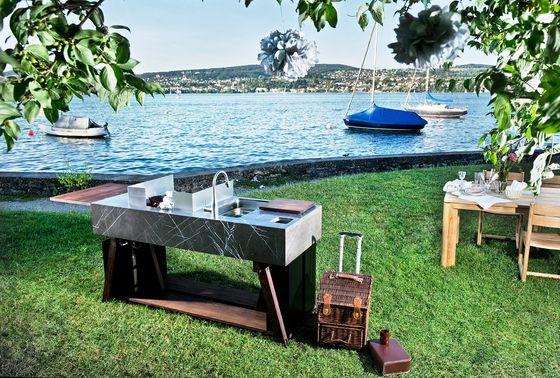 Außenküchen Kochen-Grillen bbqube stone OCQ Michael Check - edelstahl outdoor küche