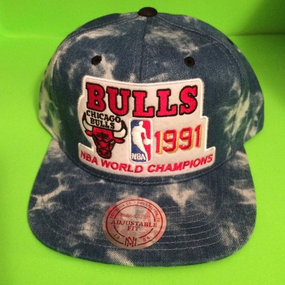 Mitchell And Ness Bulls 91 Champs Stonewashed Hat Hats Stone Wash Mitchell Ness