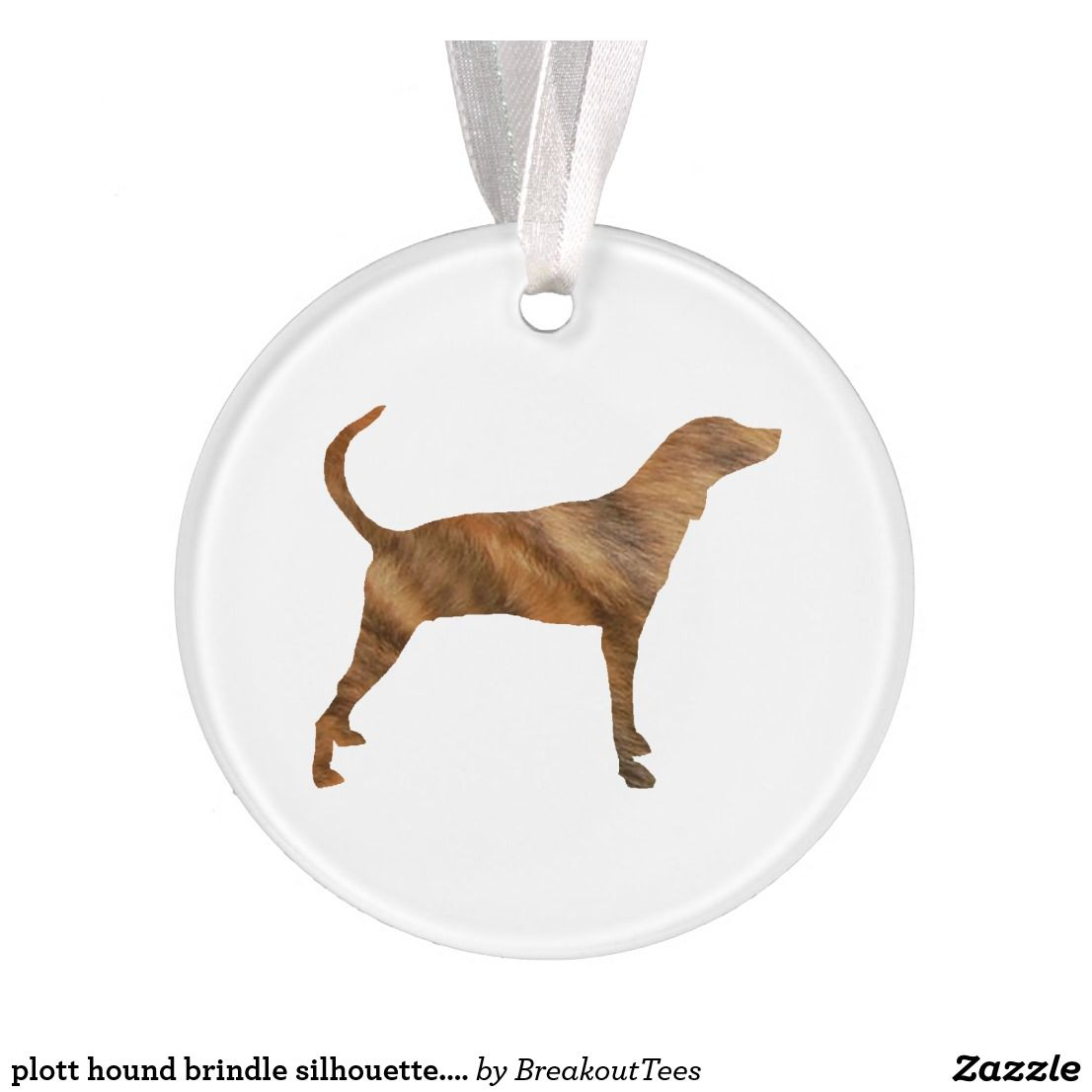 plott hound brindle silhouette.png ornament | Zazzle.com #plotthound