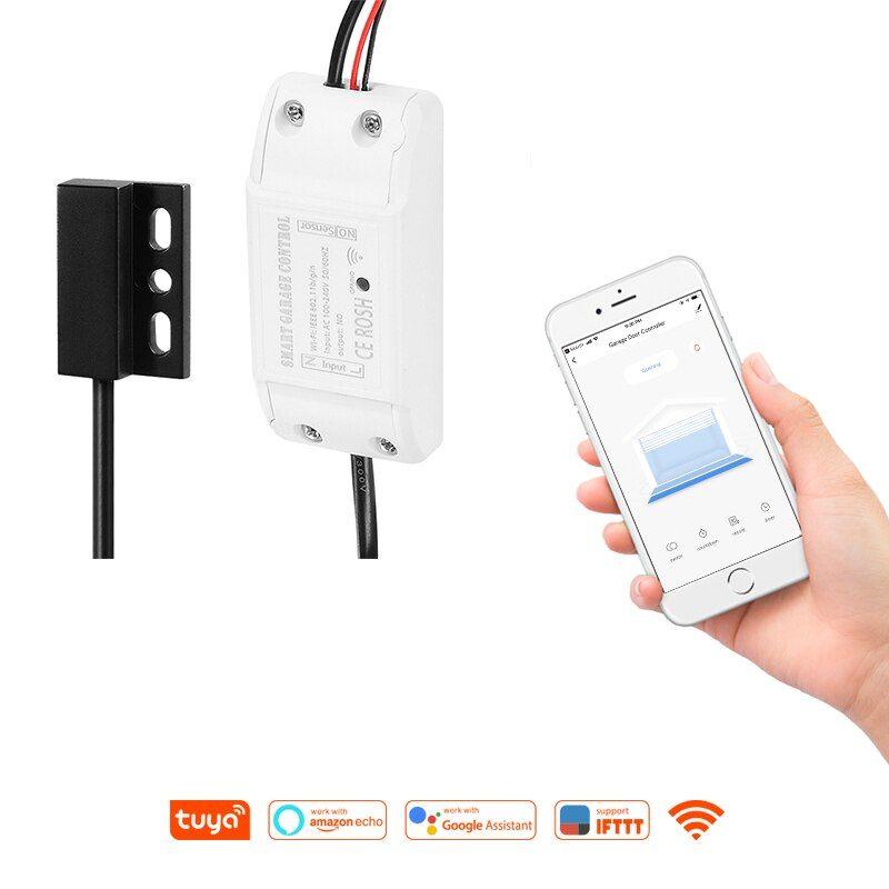 Ifttt Alexa Google Home Tuya Smart Remote Smart Timing Wifi Garage Door Opener Remote Control Smart Life Garage Door Opener Remote Garage Door Opener Life App