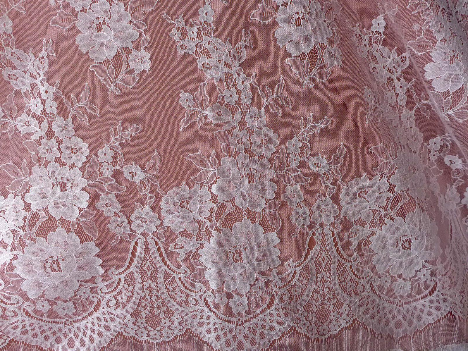 Off Whiteredskinivory Venice Embroidered French Eyelash Bridal