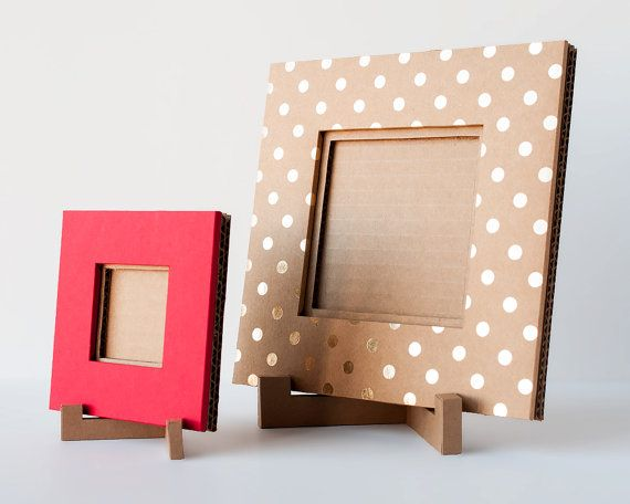 Handmade Cardboard Picture Frame 4x4 Picture Kraft With Gold