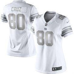 newest f6645 a9e81 Nike Victor Cruz New York Giants Women's White Platinum ...